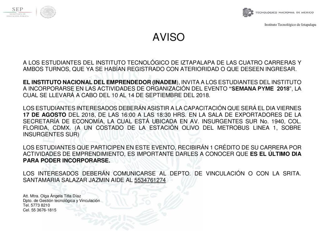 thumbnail of AVISO A ESTUDIANTES INADEM 3